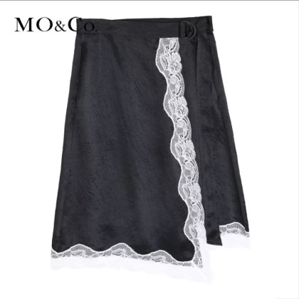 MOCO 蕾丝拼接半身裙