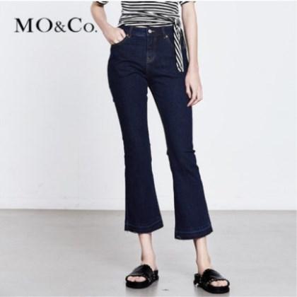 MOCO  中腰休闲裤微喇牛仔裤